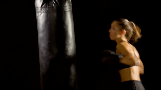 Athletic Woman Boxing video