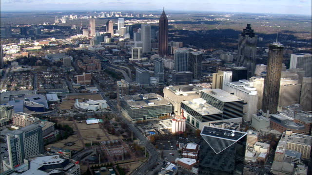 Atlanta - Aerial View - Georgia,  Fulton County,  United States video