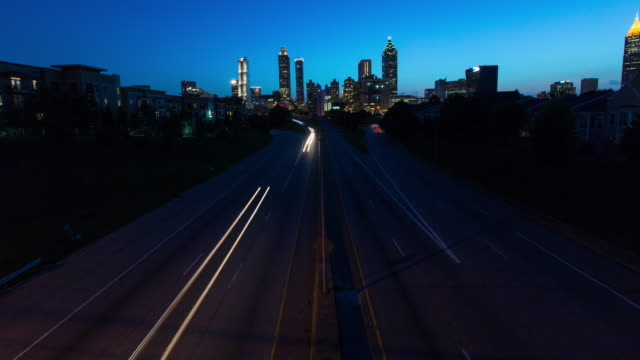 Atlanta City Skyline Timelapse video