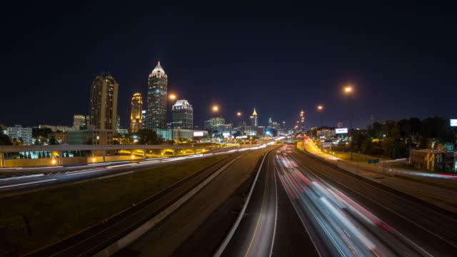 Atlanta paesaggio urbano Time Lapse panoramica - video