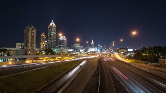 Atlanta paesaggio urbano Time Lapse Zoom - video
