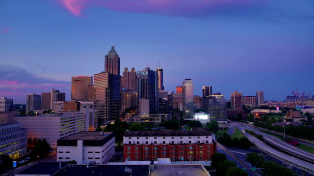 Atlanta, GA : Day to night time lapse video