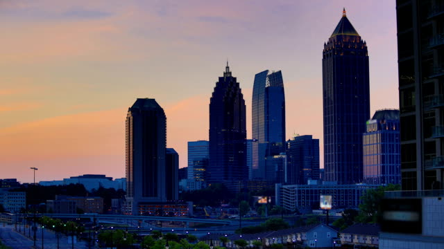 Atlanta, GA: Night to day time lapse video