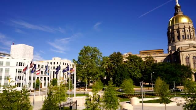 atlanta georgia state capital gold dome city architektur - kapitell stock-videos und b-roll-filmmaterial