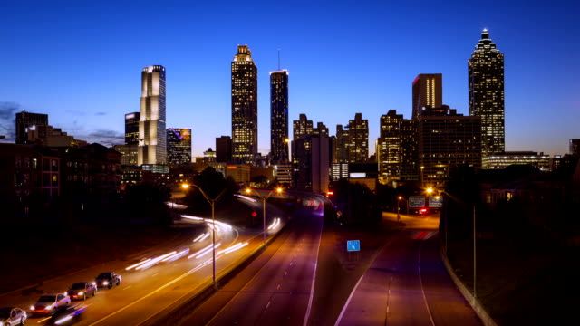 Atlanta Skyline Timelapse video