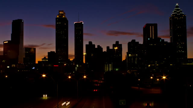 Atlanta Sunset Time Lapse video