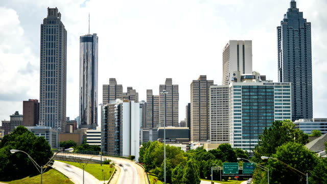 Atlanta traffic time lapse with traffic 4k 1080p - video