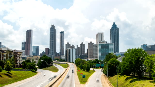 Atlanta traffic time lapse with traffic 4k 1080p video