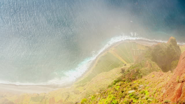 Atlantic Ocean coast seen from Cabo Girao, Madeira Atlantic Ocean coast seen from Cabo Girao, Madeira, Portugal funchal stock videos & royalty-free footage