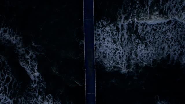 Atlantida Beach Platform and Waves in Xangri-Lá, RS, Brazil video