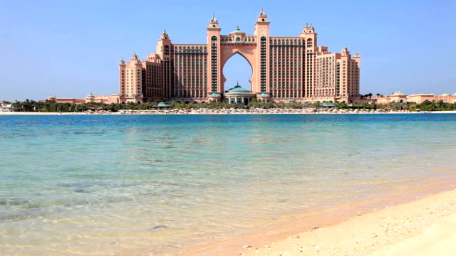 atlantis, the palm hotel in dubai - dubai architecture stock videos & royalty-free footage