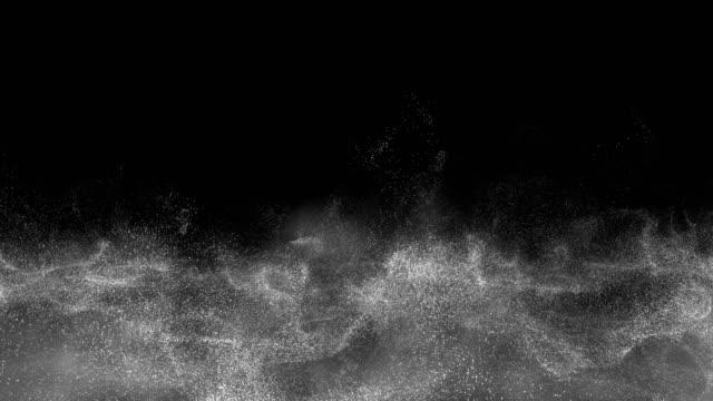nebbia e polvere mistica atmosferica galleggiante, nube di fumo che aumenta il vapore. - calore concetto video stock e b–roll