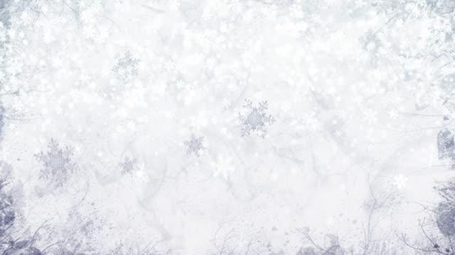 大気冬の風景 - 冬の気分で風景のミニシリーズ。 - キラキラ 白背景点の映像素材/bロール