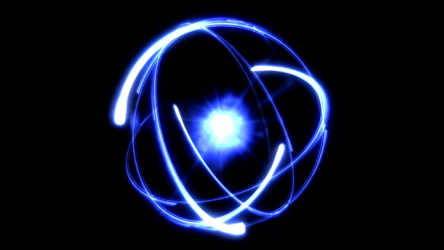 Atom abstract background blue video