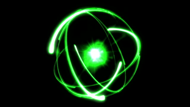 Atom abstract background green video