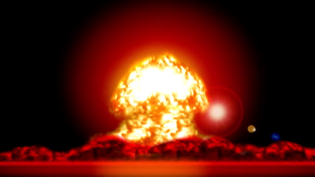 Atomic Explosion (with earth shaking) video