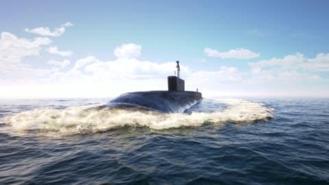 vídeos y material grabado en eventos de stock de submarino atómico flotando en el océano - rusia