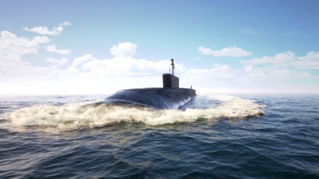 atom-u-boot im ozean treibend - russland stock-videos und b-roll-filmmaterial