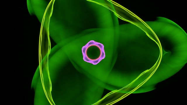 Atoms swirling in space Atoms swirling in space high scale magnification stock videos & royalty-free footage