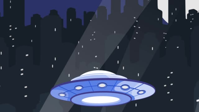UFO Attacking a City video
