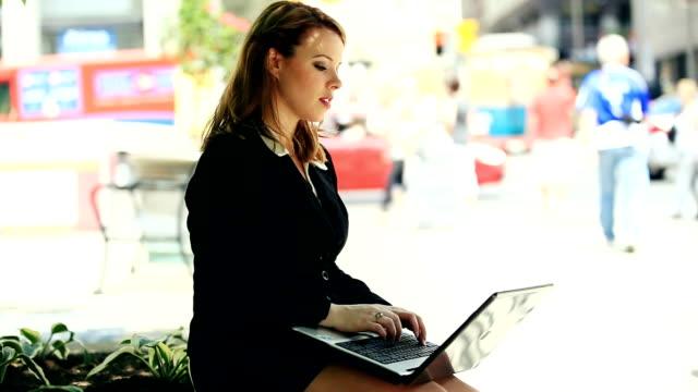 Attractive businesswoman video