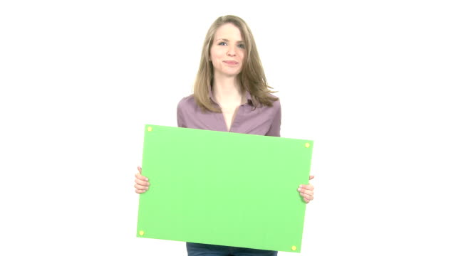 Attractive Woman with copyspace video