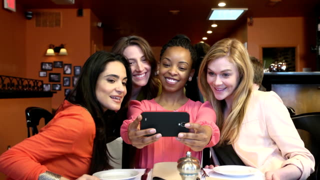 Attractive Young Ladies Take Candid Photo of Themselves video