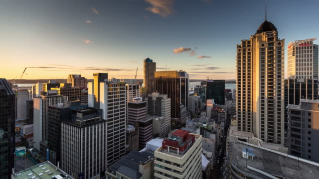 Auckland Buildings Looking Towards Bay - Time Lapse video