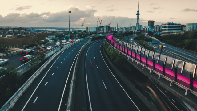 Auckland City Skyline. video