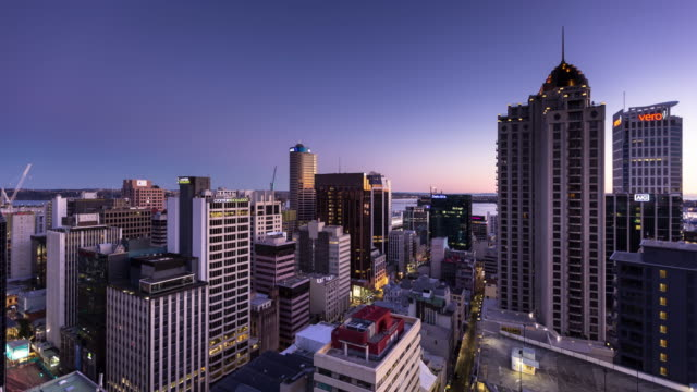 Auckland, New Zealand - Night to Day Time Lapse video