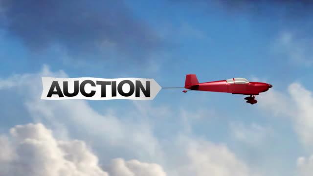 Auction Airplane Banner (Center) video