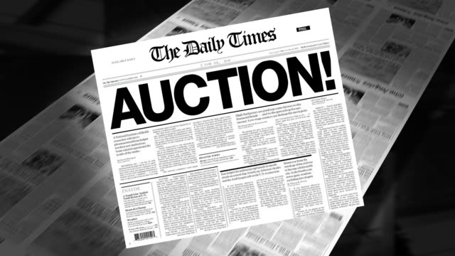 Auction! - Newspaper Headline (Intro + Loops) video