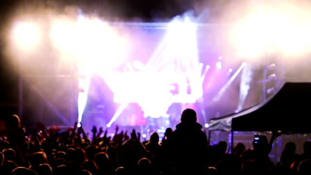 Audience Applauded at a Rock Concert video