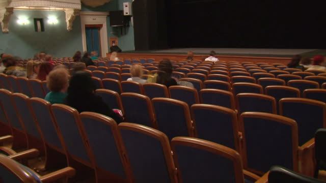 audience in the theater  (timelapse) video