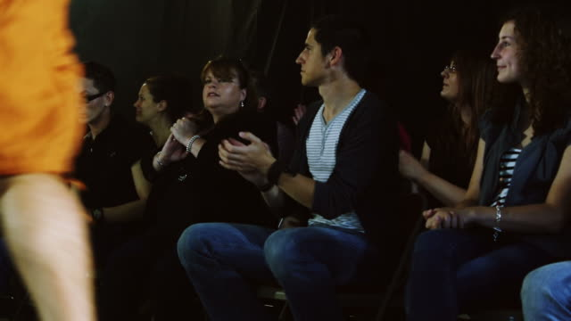 Audience watching the models in a Fashion Show video