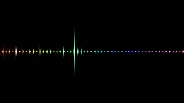 audio equalizer isolated on black background - frequenza video stock e b–roll