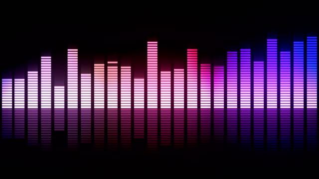 ljud equalizer spektrum - dansbana bildbanksvideor och videomaterial från bakom kulisserna