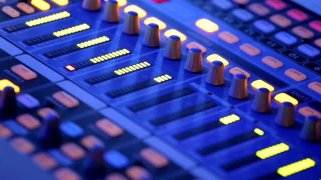 Audio mixer working on rock concert