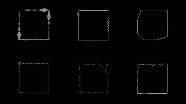 audiospektrum hud motion graphics - quadratisch zweidimensionale form stock-videos und b-roll-filmmaterial