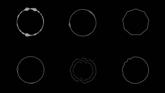 ljudspektrum med hud rörlig grafik - designelement bildbanksvideor och videomaterial från bakom kulisserna