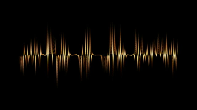 audiospektrum orange - sound wave stock-videos und b-roll-filmmaterial