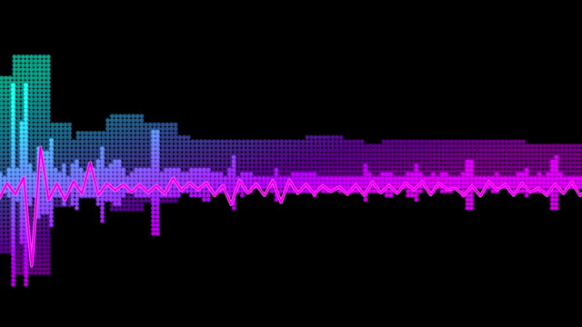 audiospektrum welle - sound wave stock-videos und b-roll-filmmaterial