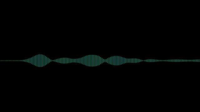 つの波形アニメーション、オーディオ - 音波点の映像素材/bロール