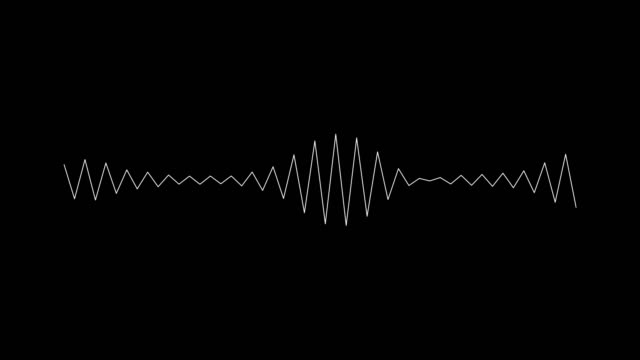 Audio wave on black background.
