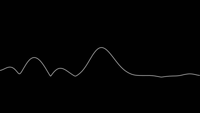 黒の背景にオーディオウェーブ - 音波点の映像素材/bロール