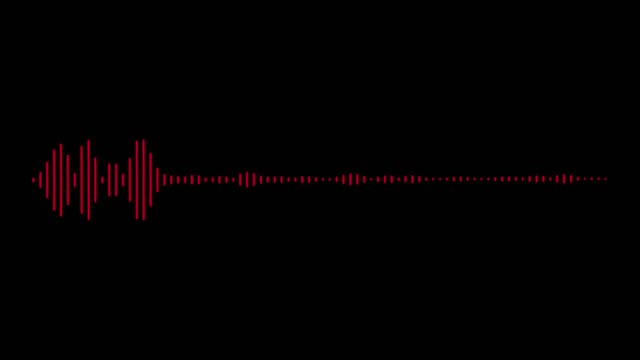 audio wave on black background - radio video stock e b–roll