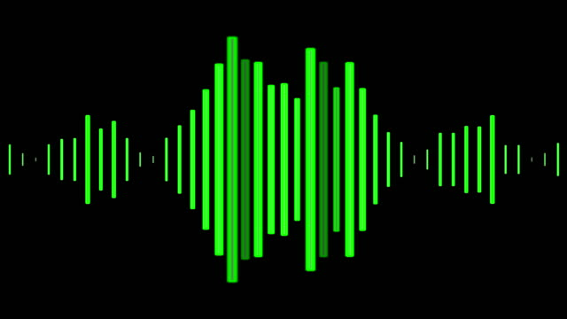 Audio wave visuals for a podcast or audiobook