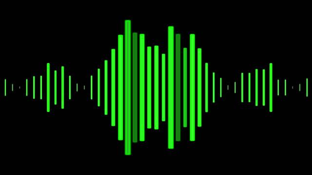 audio wave visuals for a podcast or audiobook - attrezzatura per la musica video stock e b–roll