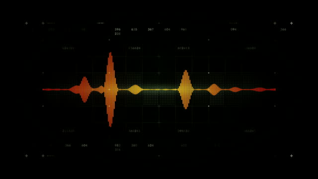Audio Waveform Mono Black video