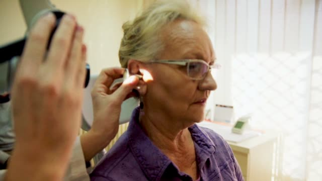 Audiology Examination A Senior Women On Examination At Audiologist ear stock videos & royalty-free footage